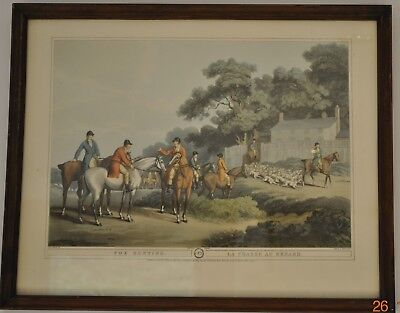 Fox Hunting No 3 : La Chasse Au Renard Framed Print By Samuel Howitt • 30£