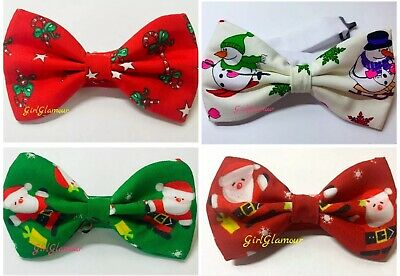 Father Christmas Bow Tie Necktie Dickie Santa Jumper Gingerbread Man Costume • 4.99£