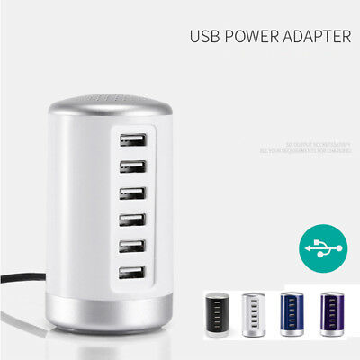 AU19.44 • Buy Universal USB Charger 6 Port Hub Charging Station Desktop Travel Power Adapter