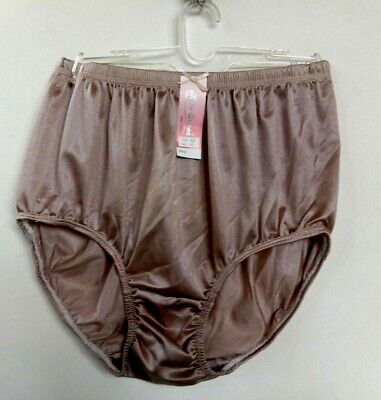 abfc34e5b Nylon Full Briefs Men Women Vintage Granny Knicker Hipster Brown Panties  Size LL • 9.99