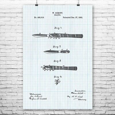 $10.95 • Buy Surgical Scalpel Poster Print Surgeon Gift Medical Decor Doctors Office Art
