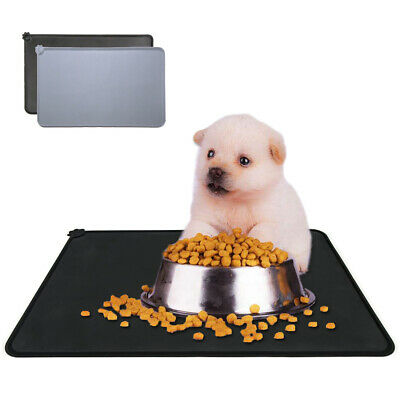 Pet Puppy Silicone Waterproof Feeding Food Mat Dog Cat Non Slip Bowl Placemat • 6.69£