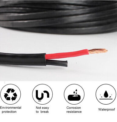AU46.99 • Buy Twin Core Wire 0.5mm~13mm COPPER Cable Dual Sheath Insulated Auto Caravan Solar