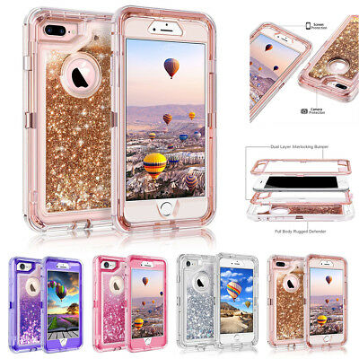AU8.79 • Buy IPhone XS Max XR 6 7 8 Plus Glitter Liquid Heavy Duty Clear Bling Quicksand Case
