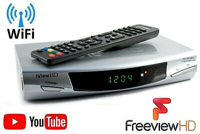 FULL HD 1080P Freeview WiFi TV Receiver Media Player Tuner Set Top Box Recorder • 26.98£