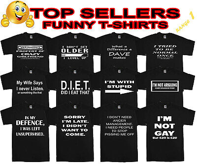 Funny Mens T-Shirts Novelty T Shirts Joke T-shirt Birthday Gift Tee Shirt Party  • 6.85£