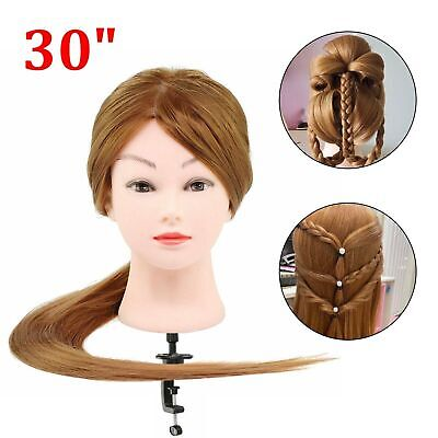 30  Salon Hair Training Head Hairdressing Styling Mannequin Doll & Clamp • 12.59£