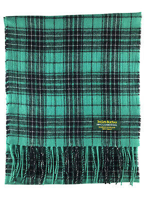 Pure Lambswool Maclean Hunting Ancient Tartan Scarf By Ingles Buchan Of Scotland • 12.99£