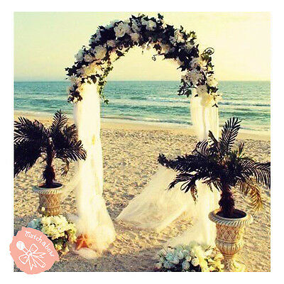 $19.99 • Buy 7.5 Feet White Metal Arch For Wedding Party Decoration - Free & Fast Shipping