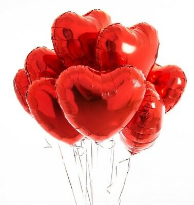 AU20 • Buy Red Heart 18inch Foil Balloon Helium Quality Hearts Love Valentine Wedding