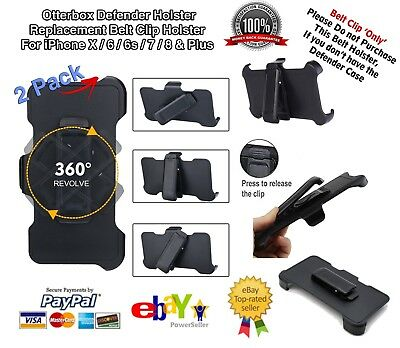 AU12.76 • Buy Otterbox Defender Case Replacement Belt Clip For IPhone X/6/7/8 & Plus - 2 Pack
