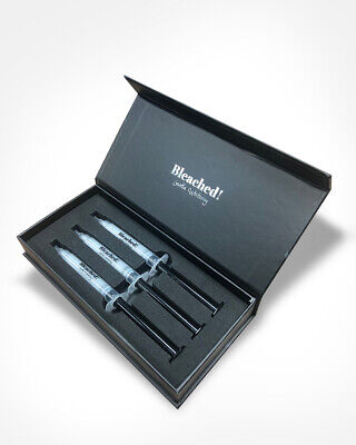 AU64.99 • Buy Bleached! Peroxide Free Professional Teeth Whitening Refill Kit 3 X 3ml Syringes