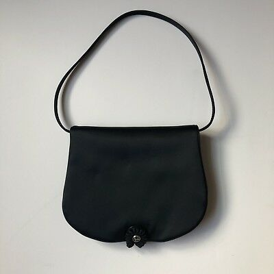 Giorgio Armani Black Satin Cocktail Mini Bag NWOT • 85.00  1a28175659fb4