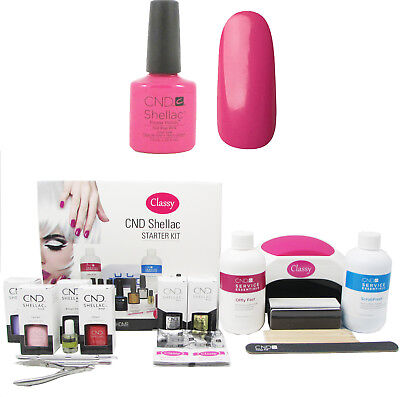 £129.95 • Buy CND Shellac Hot Pop Pink Deluxe Kit With Classy Nails 48W PRO LED Lamp FREE P&P