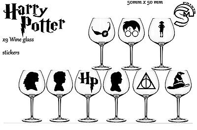 £2.49 • Buy Harry Potter Wine Glass, Party Vinyl Decal Sticker Stickers Wall Art