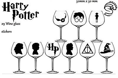 £2.99 • Buy Harry Potter Wine Glass, Party Vinyl Decal Sticker Stickers Wall Decal