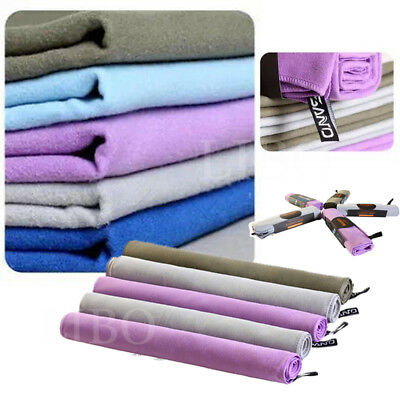 AU9.49 • Buy Travel Cool Comfortable Microfiber Towel Outdoor Sports Quick Drying Camping Gym