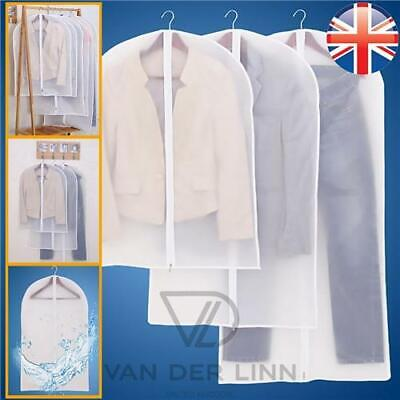£2.53 • Buy *UK Seller* Clear Suit Covers Clothes Garment Shirt Dust Protector 5 Sizes