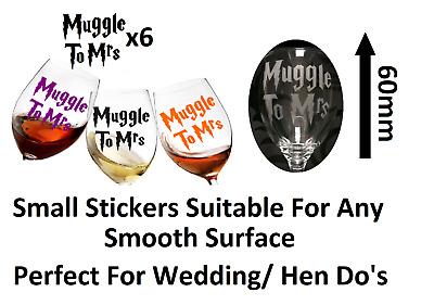 £1.98 • Buy Harry Potter Inspired Muggle To Mrs Wine Glass Stickers Vinyl Arts, Craft,