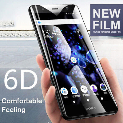 AU4.90 • Buy 6D Tempered Glass For Sony Xperia XA2 Ultra XZ2 Premium Full Screen Protective