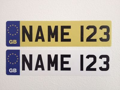 £3.49 • Buy Personalised Kids GB NUMBER PLATES Stickers FOR CHILD'S RIDE ON CAR Truck Jeep
