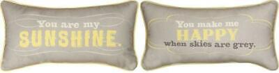 (1) You Are My Sunshine You Make Me Happy 17  X 9  Word Pillow • 17£