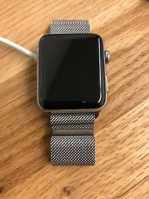 $ CDN1249.99 • Buy Apple Watch Series 3 42mm Stainless Steel Case With Milanese Loop (GPS + Cellula