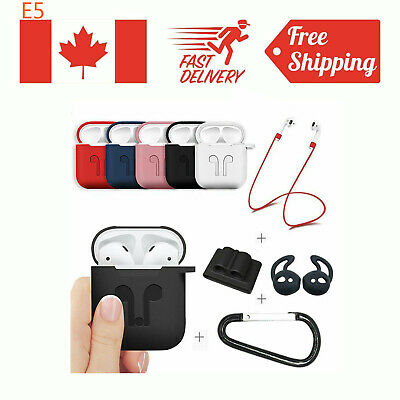 $ CDN9.95 • Buy Strap Holder & Silicone Case Cover For Apple Airpod Airpods Accessories Air Pod