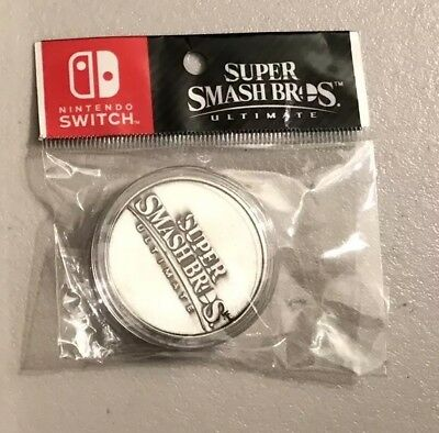 $39.99 • Buy Super Smash Bros. Ultimate Collectible Coin Limited Edition Vintage Silver NIP