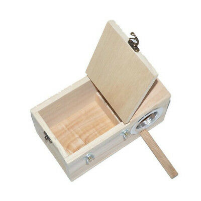 Wooden Budgie Nest Nesting Box & Perch For Cage Aviary With Opening Top XL • 15.46£