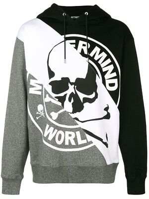 ebd6a34d79d Mastermind Japan World Hoodie Black white grey Size Md Brand New With Tags •