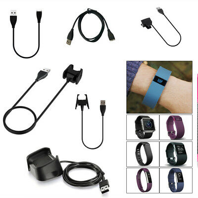 AU4.50 • Buy USB Charger Charging Cable Cord Wire For Fitbit CHARGE 2 3 HR Surge Alta Blaze