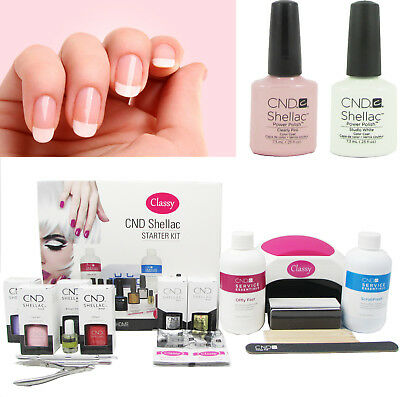 £144.95 • Buy CND Shellac French Manicure Gel Nail Deluxe Kit Classy 48W PRO LED Lamp FREE P&P