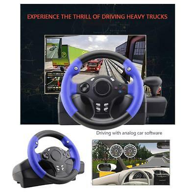 Racing Game Steering Wheel W/ Brake Pedal For PC PS3 PS4 Xbox One XBOX360 Switch • 85.55$