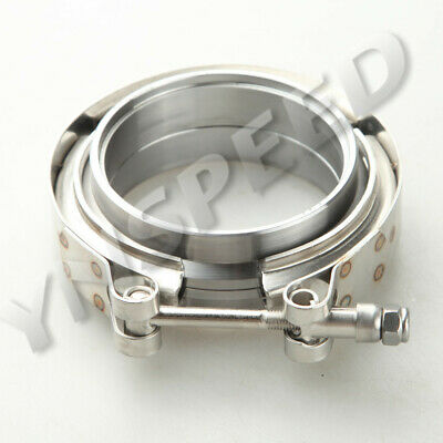 AU28.96 • Buy 2.25  Self Aligning Male/Female V-Band Vband Clamp CNC Mild Steel Flange Kit AU