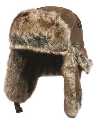 £28.95 • Buy Faux Leather & Fur Vintage Style Warm Winter Trapper Pilot Flying Aviator Hat