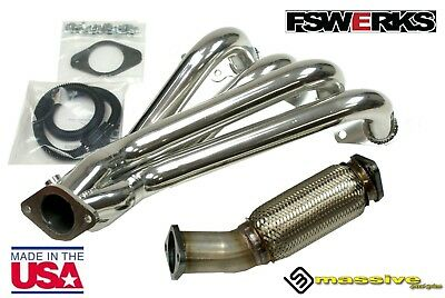 $497.15 • Buy USA MADE!! FSWERKS Header + Flex Pipe Combo Ford Focus 03 - 18 2.0L 2.3L Duratec