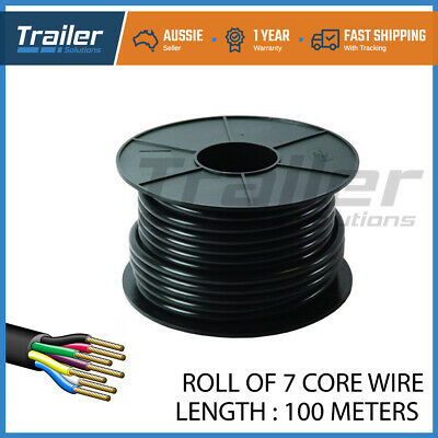AU165.85 • Buy 7 CORE CABLE WIRE WIRING X 100 METERS TRAILER CARAVAN TRUCK SUIT LIGHTS