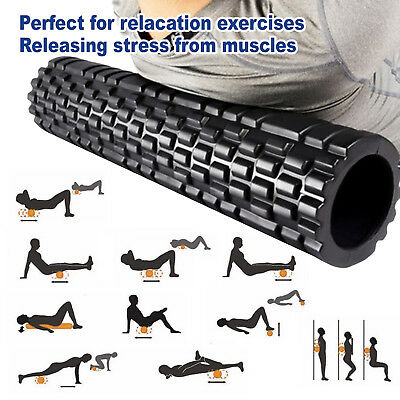 AU28.98 • Buy Foam Roller Yoga Grid Trigger Point Massage Pilates Physio Gym Exercise EVA PVC