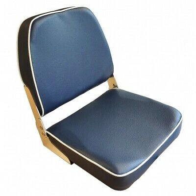 LINDEMANN Classic Foldable Helm Seat Blue With White Piping • 30.85£