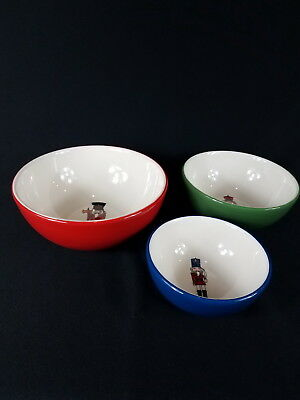 $18.97 • Buy Set Of 3 2013 Avon Holiday Nutcracker Nesting Snack Bowls Collectible
