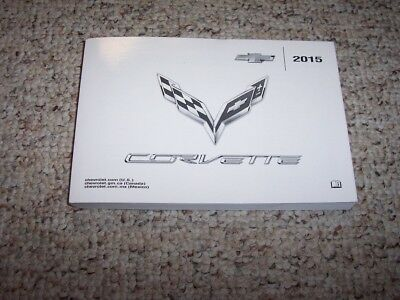 $49.19 • Buy 2015 Chevy Corvette Coupe Convertible Owner Manual User Guide Stingray Z51 Z06