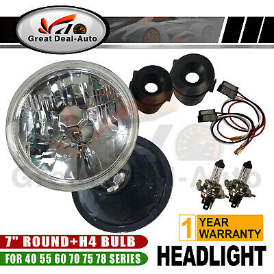 AU40.04 • Buy 2PCS Prism 12V H4 60/55W Headlight 7  Round Lamp Fit For Toyota 40 55 60 70 78