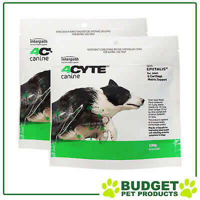 AU131.50 • Buy 4CYTE Canine Joint Support For Dogs 2 X 100gm