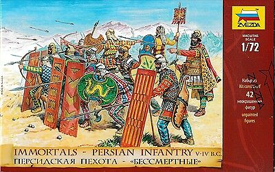 Zvezda Toy Soldiers. 8006. Immortals - Persian Infantry. 1/72 Scale. • 9.40£