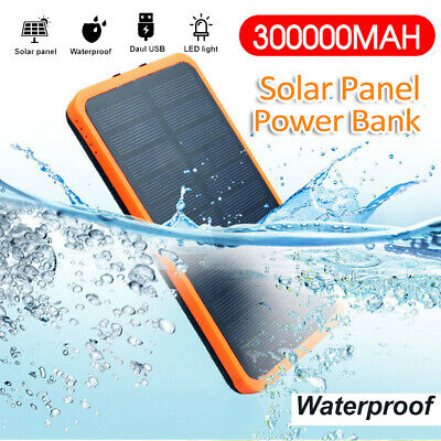 AU28.99 • Buy 300000mAh Portable Solar Charger Dual USB External Battery Power Bank Waterproof