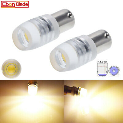AU5.31 • Buy 2 X BAX9S H6W 150° Warm White COB LED Car Caravan Globes Side Parker 4300K 12V