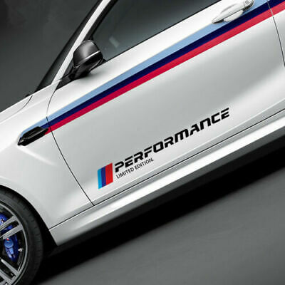 $6.74 • Buy Car Sports Styling Side Door Reflective Sticker Trim Decals For BMW M3 M5 X3