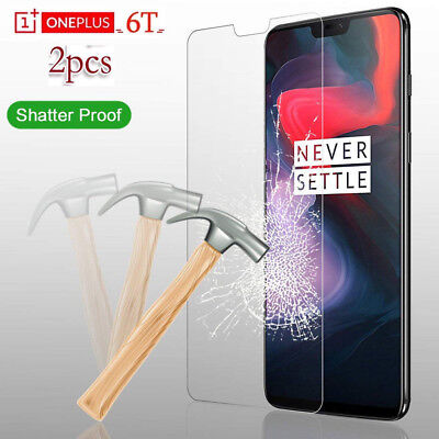 AU3.12 • Buy 2Pcs Tempered Glass Screen Protector Film Guard Protection For OnePlus 6T 5T 3T