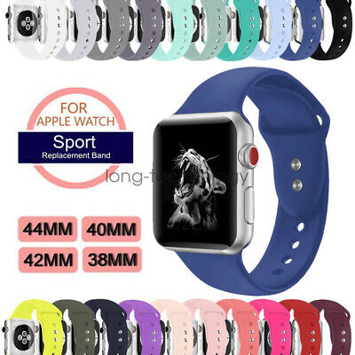AU8.99 • Buy Replacement Silicone Sport Strap For Apple Watch Band Series 5 4 3 40/44mm 42mm